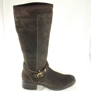 Like New KELLY & KATIE Dark Suede Riding Boots
